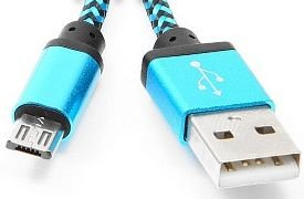 Кабель USB 2.0 AM-microBM 1м Gembird синий CC-mUSB2bl1m кабель usb 2 0 am microbm 1м gembird белый cc mapusb2w1m