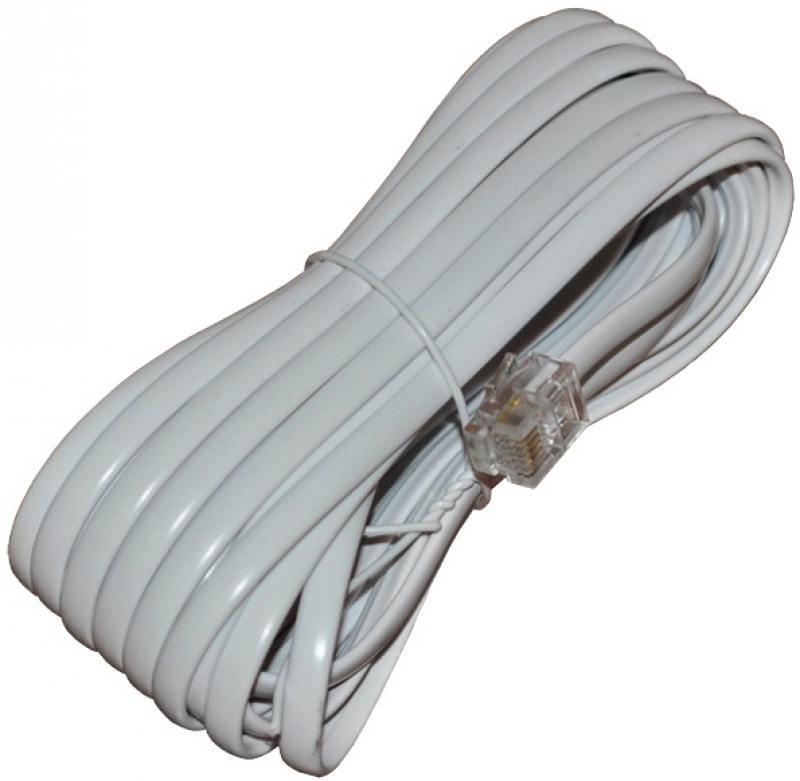 Удлинитель телефонный REXANT 5м белый 18-3051