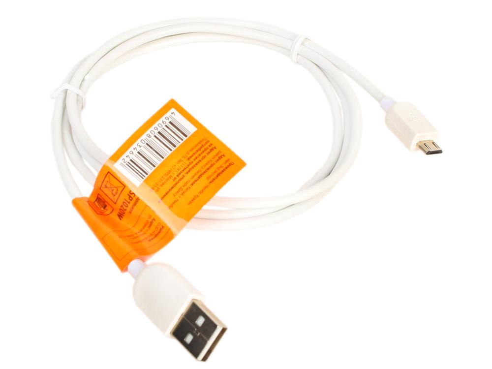 Кабель Sparks SP1020W (USB2.0 A вилка - Micro USB вилка, длина 1.2 м., белый)