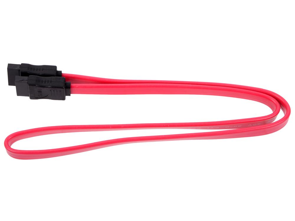 Кабель интерфейсный SATA Orient C909, 0.5 м, красный