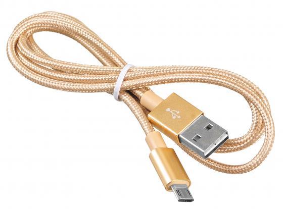 Кабель USB 2.0 A(m)-microUSB B(m) позолоченные контакты 1м Buro BHP MICROUSB 1M BRAIDED buro q5 microusb 1a