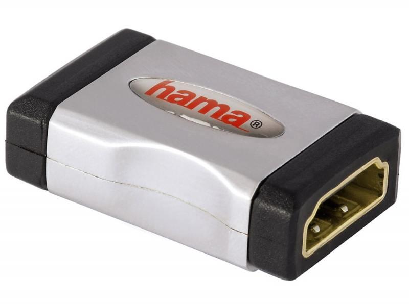 Переходник HDMI(f)-HDMI(f) Hama High Speed серо-черный 00122231 кабель hdmi hama high speed 122117 black