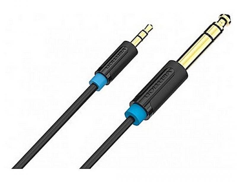 Кабель соединительный 1.0м Vention 6.5 Jack (M) - 3.5 Jack (M) BABBF кабель соединительный 3 0м vention 3 5 jack m 3 5 jack m плоский vab a08 s300