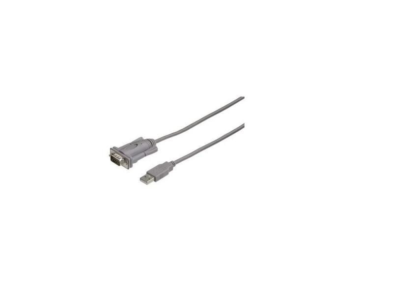 Кабель Hama USB A(m)-RS-232 серый 2м H-53325 кабель hama h 173672 00173672 micro usb b m usb a m 0 6м черный