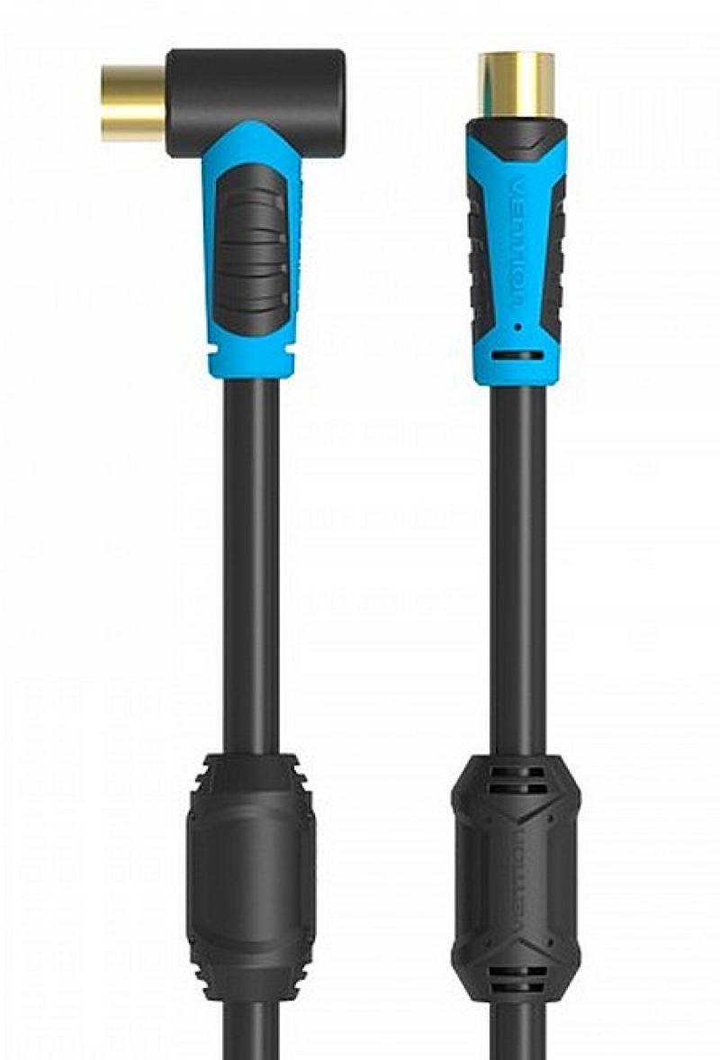 Кабель антенный Vention M/M угол 90 - 1,5м VAV-A02-B150 кабель vention m m угол 90 1 5м vav a 02 b 150