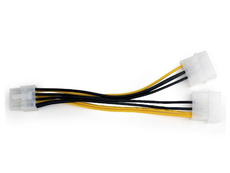 Разветвитель питания Cablexpert CC-PSU-81, 2хMolex->PCI-Express 8pin, для подключения в/к PCI-Е (8pin) к б/п ATX