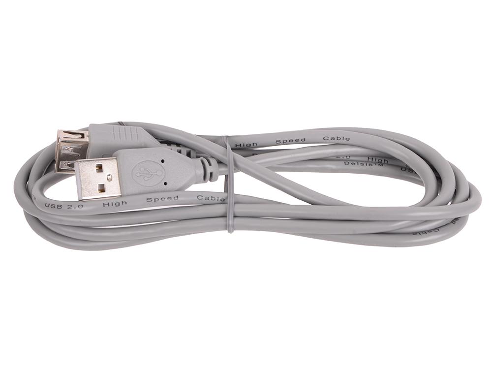 Кабель Belsis BW1408 (USB2.0 А вилка-USB А розетка без ф/фильтра, длина 1.5 м.) сетевые фильтры belsis сетевой удлинитель 4 розетки 4 usb порта длина 1 500