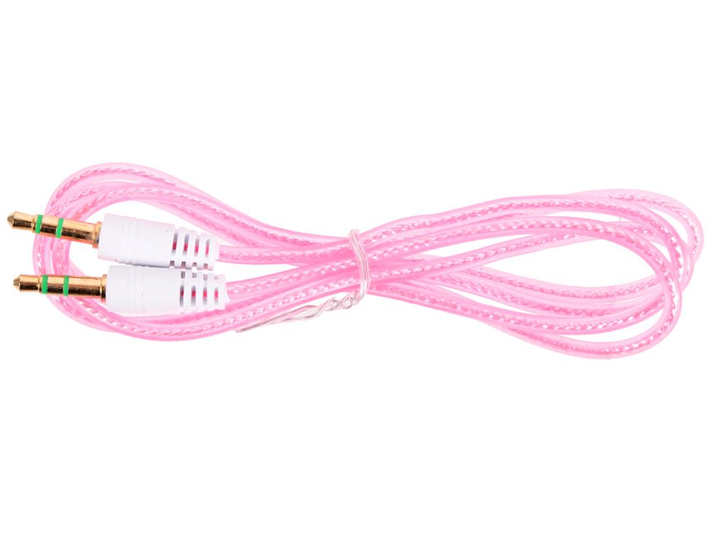 Кабель Belsis BL1106 (Jack 3.5 mm - Jack 3.5 mm, стерео, 0,75 м, прозрачный, малиновый) акустический кабель 2х2 5мм2 14 ga прозрачный belsis bw7707 soft