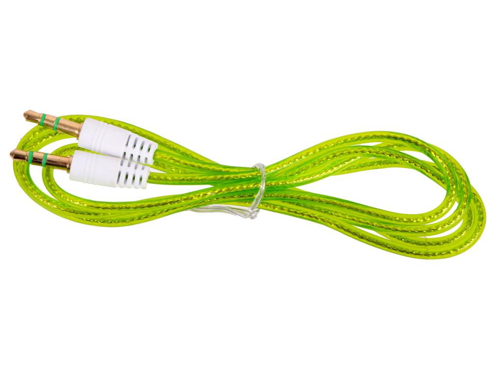 Кабель Belsis BL1105 (Jack 3.5 mm - Jack 3.5 mm, вилка - вилка, стерео, 0,75м, прозрачный, зеленый) кабель jack jack roland кабель межблочный стерео jack стерео jack rhc 25 1414 7 5 m