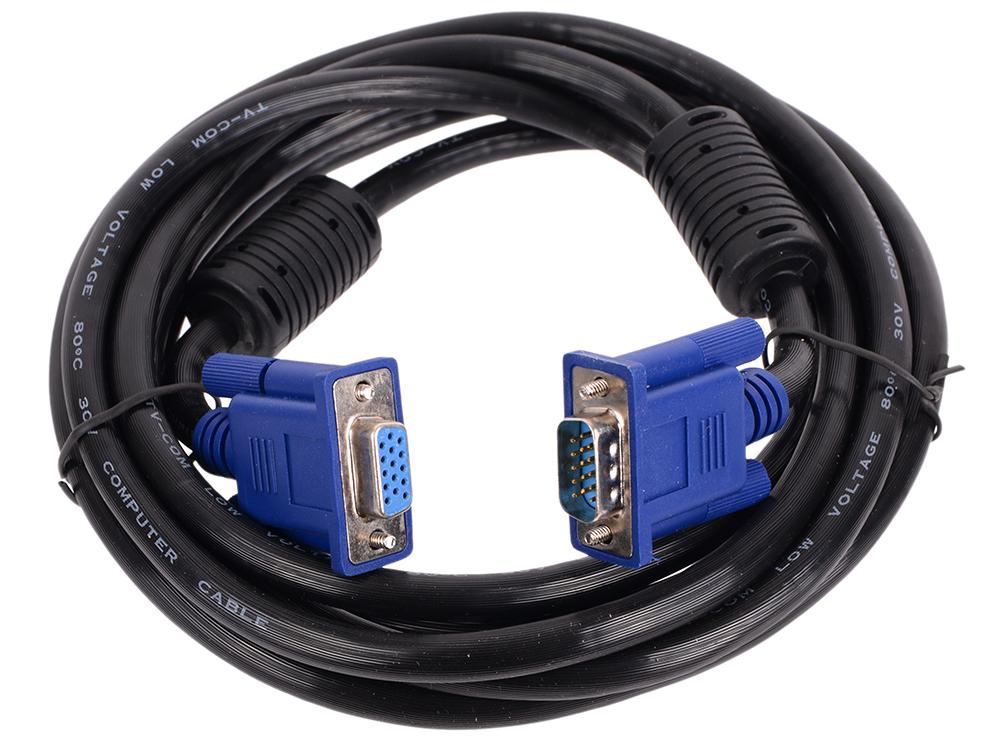 Кабель удлинительный SVGA (15m/15f) 3m 2 фильтра TV-COM (QCG342AD-3M) tv м tv f 3m telecom ttv9501 3m
