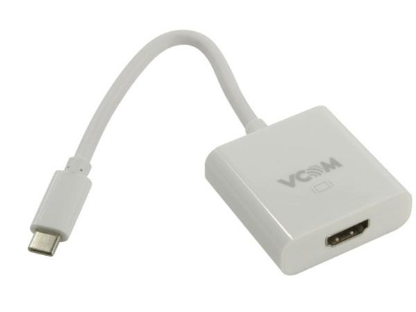 Кабель-адаптер USB 3.1 Type-Cm - HDMI A(f) 3840x2160@60Hz, 10Gbps , 0,15m VCOM (CU423) аксессуар perfeo hdmi a f hdmi a f a7002