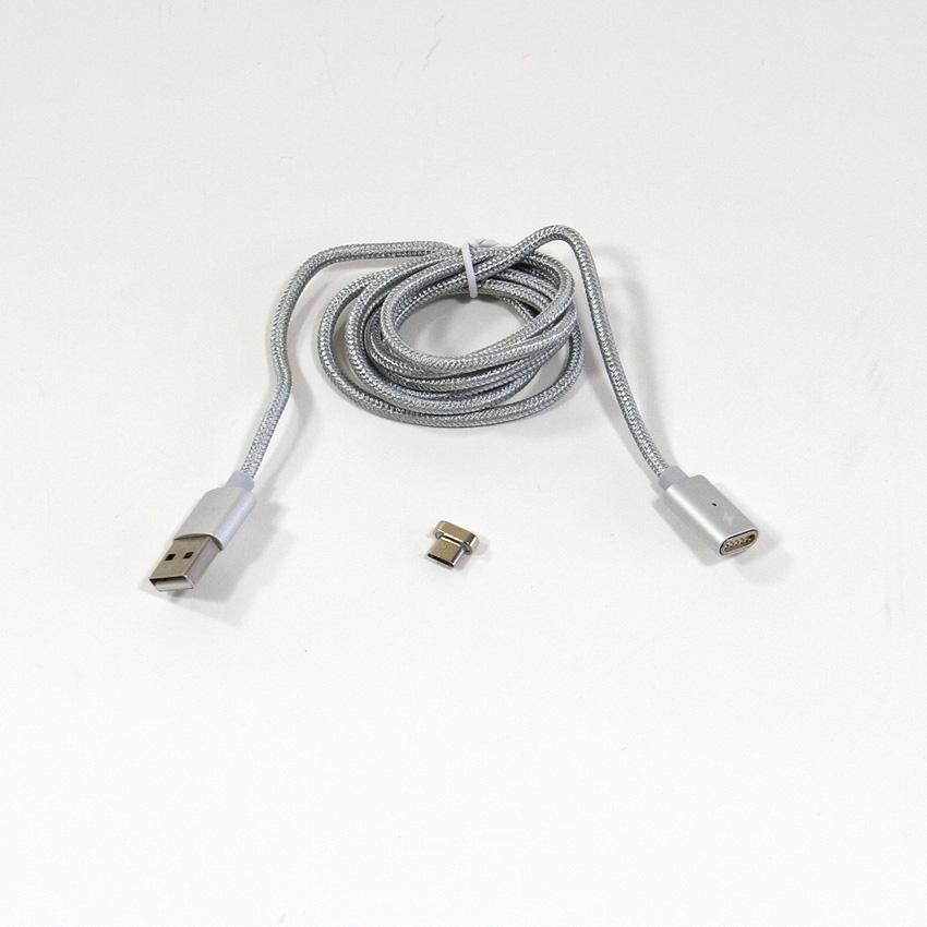 Кабель USB2.0 Am - micro-B 5P 1м с магнитным адаптером VCOM (VUS7000) кабель usb 2 0 cablexpert am microbm 5p 1м золотой металлик cc musbgd1m