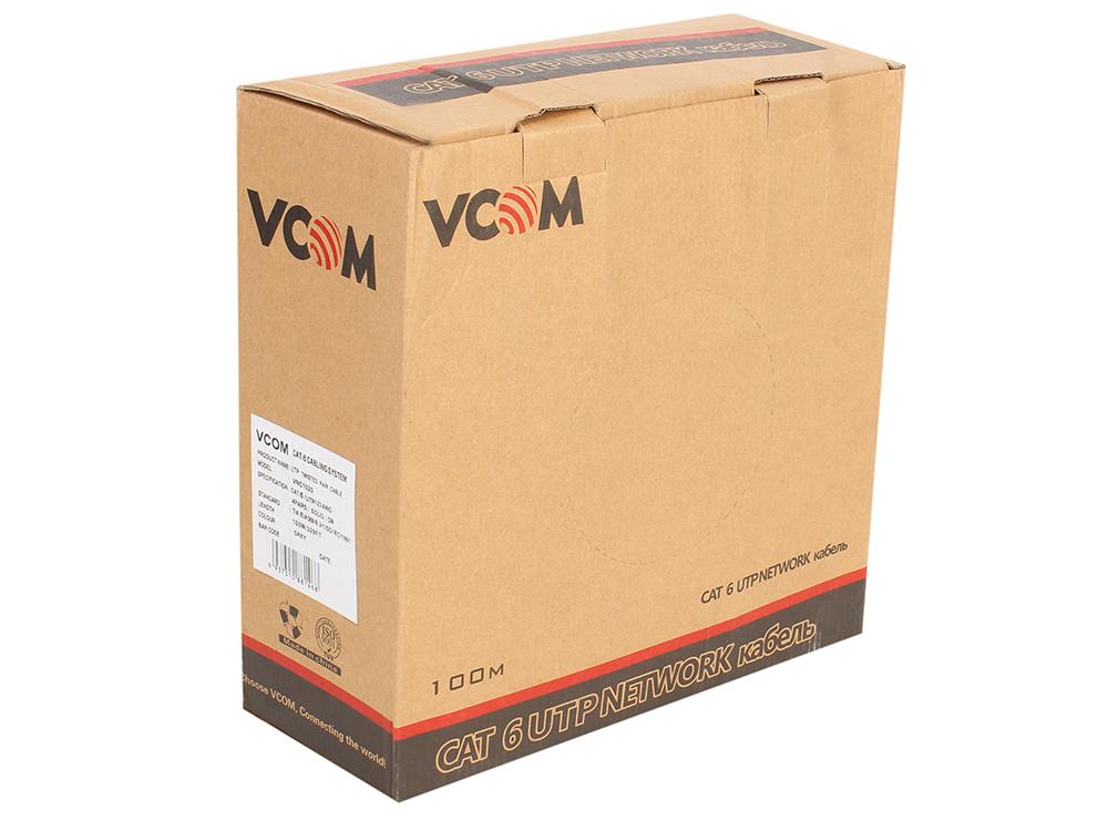 Кабель VCOM UTP 4 пары кат.6 (бухта 100м) p/n:VNC1020 кабель ввгнга 3x2 5 плоский ту бухта 20м кванткабель 20338