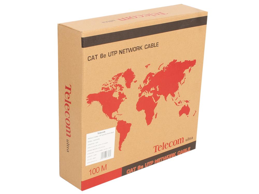 Кабель Telecom Ultra UTP 4 пары кат.6 (бухта 100м) p/n: (TU634157) кабель ввгнга 3x2 5 плоский ту бухта 20м кванткабель 20338