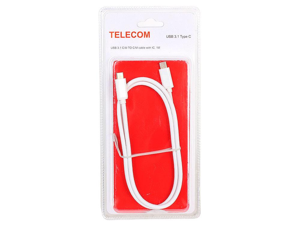 Кабель USB 31 Type Cm -- Cm с IC данные10Гбс номинальный ток 5А длина 1M Telecom TC420 блистер