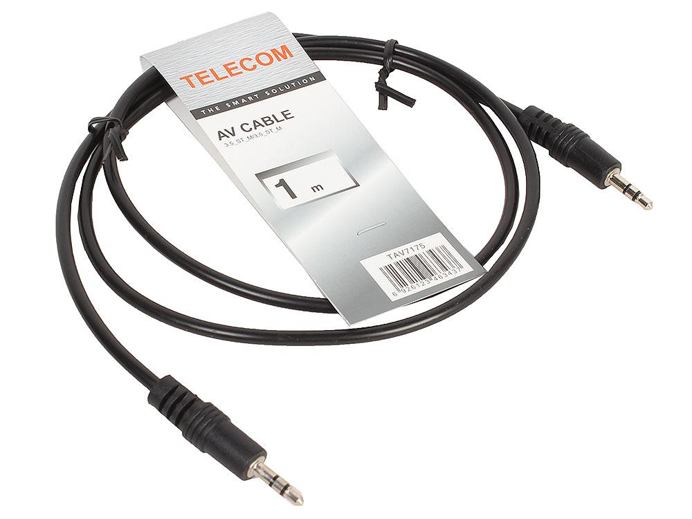 Кабель соединительный 3.5 Jack (M) - 3.5 Jack (M), стерео, аудио, 1м Telecom (TAV7175-1M) кабель jack jack schulz кабель межблочный стерео jack стерео jack sto 1 m