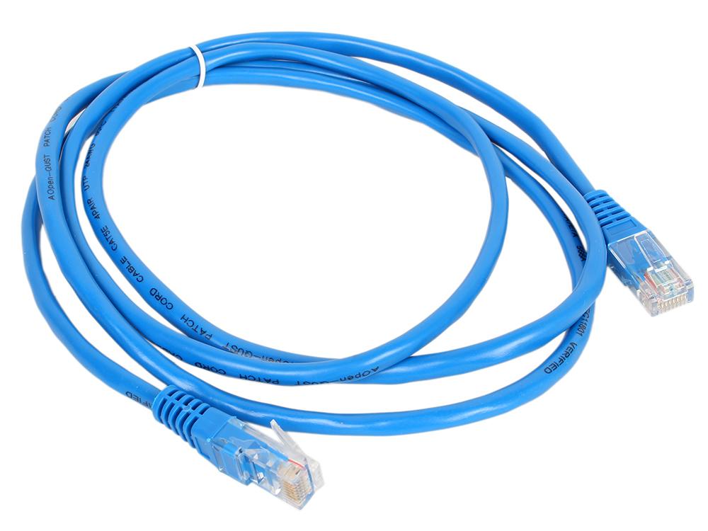 Патч-корд литой Aopen UTP кат.5е 1,5м синий (ANP511_1.5M_B)