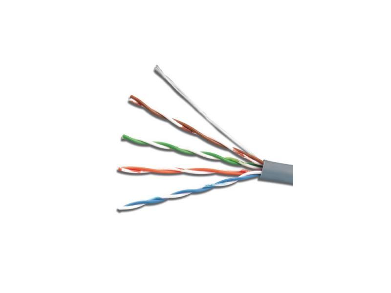 Кабель 5bites LIGHT FS5500-305AE, FTP, 4 пары, одножильный (solid), кат. 5e, (0,50 mm), CCAG, 5bites, 305m, для внешней прокладки, на деревянной катуш
