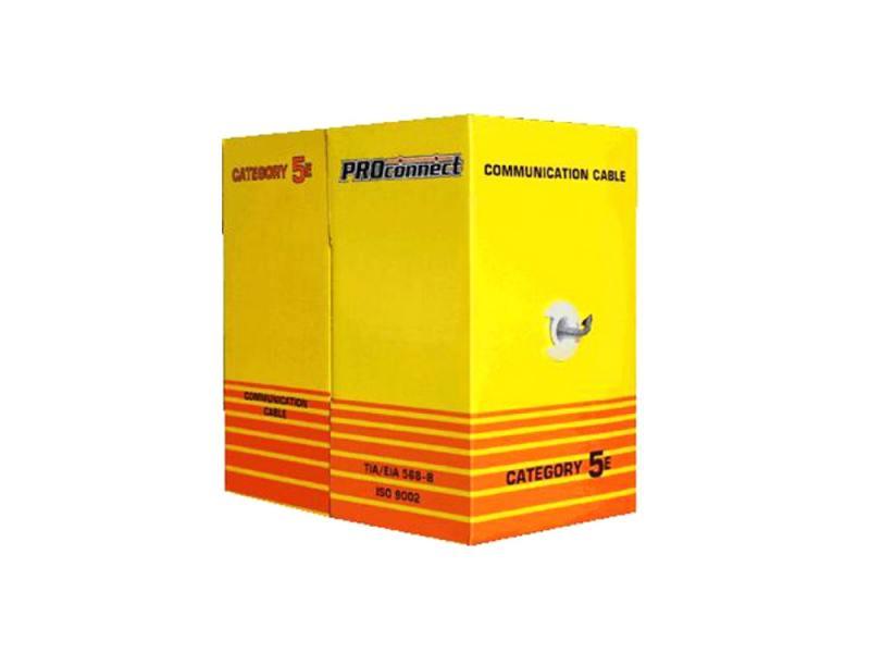 Кабель Proconnect UTP кат 5e 2 пары 24AWG 305м 01-0027 аксессуар proconnect bnc 05 3076 4 7