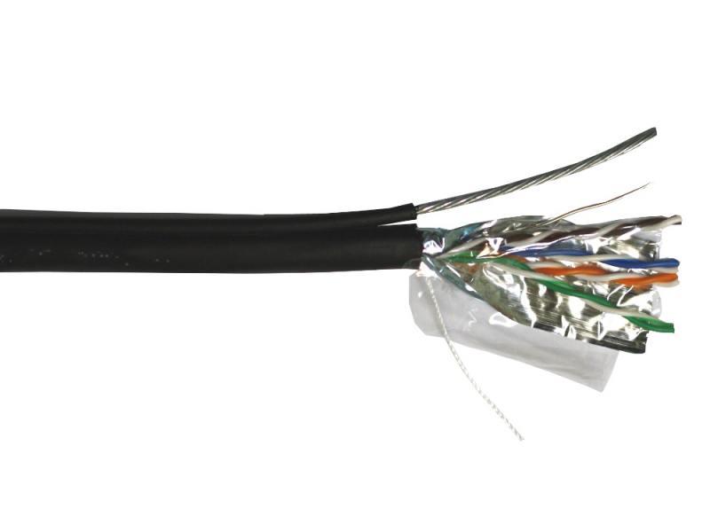 Кабель Lanmaster FTP кат.5E 4 пары для внешней прокладки с тросом 305м TWT-5EFTP-OUT-TR кабель lanmaster lan 5eftp wp out ftp 4