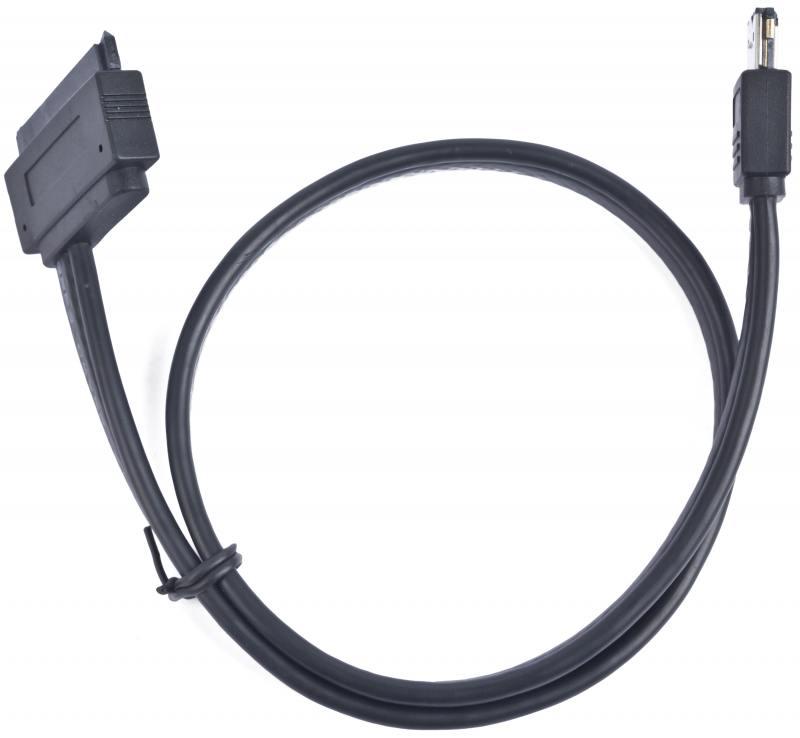 Кабель eSATAp - eSATA 0.5м Gembird CC-ESATAP-SATA22P-0.5M new black 1m 3ft esata to esata 7 pin shielded external cable cord p10