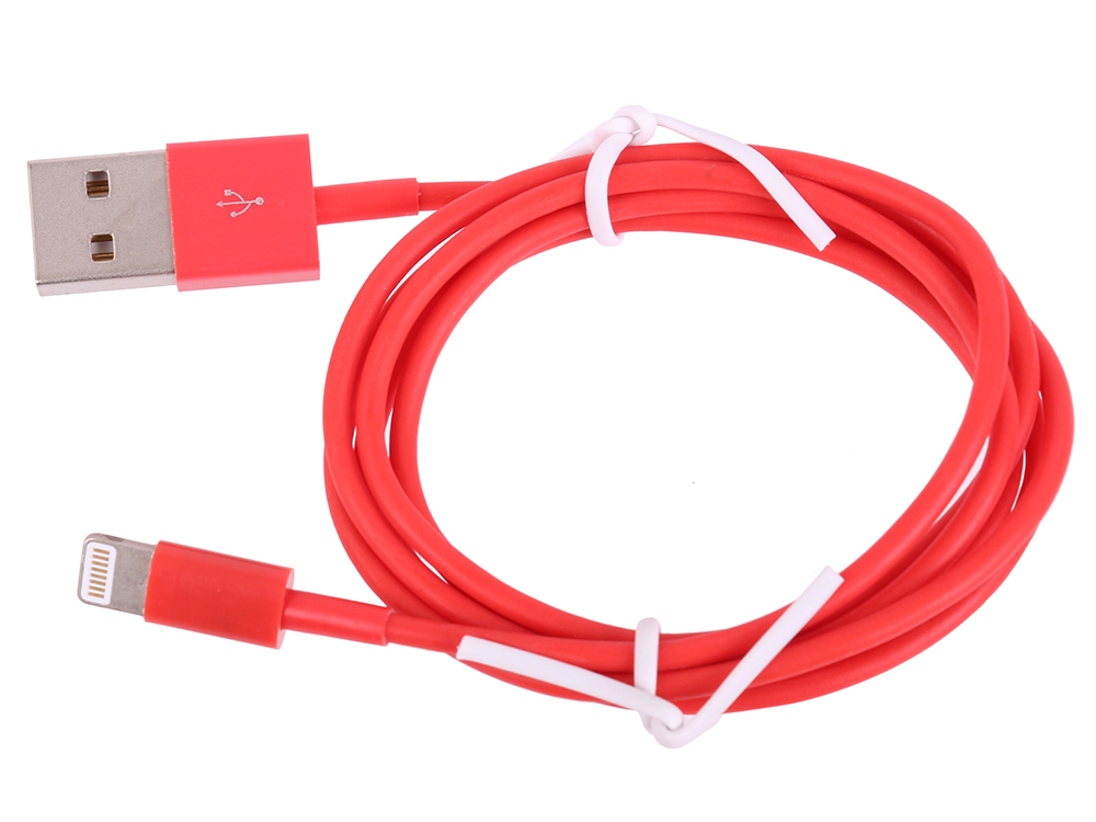 USB кабель LP для Apple iPhone/iPad 8 pin (красный/европакет) 0L-00002544 usb кабель lp для apple 8 pin плоская оплетка черный европакет 0l 00030332