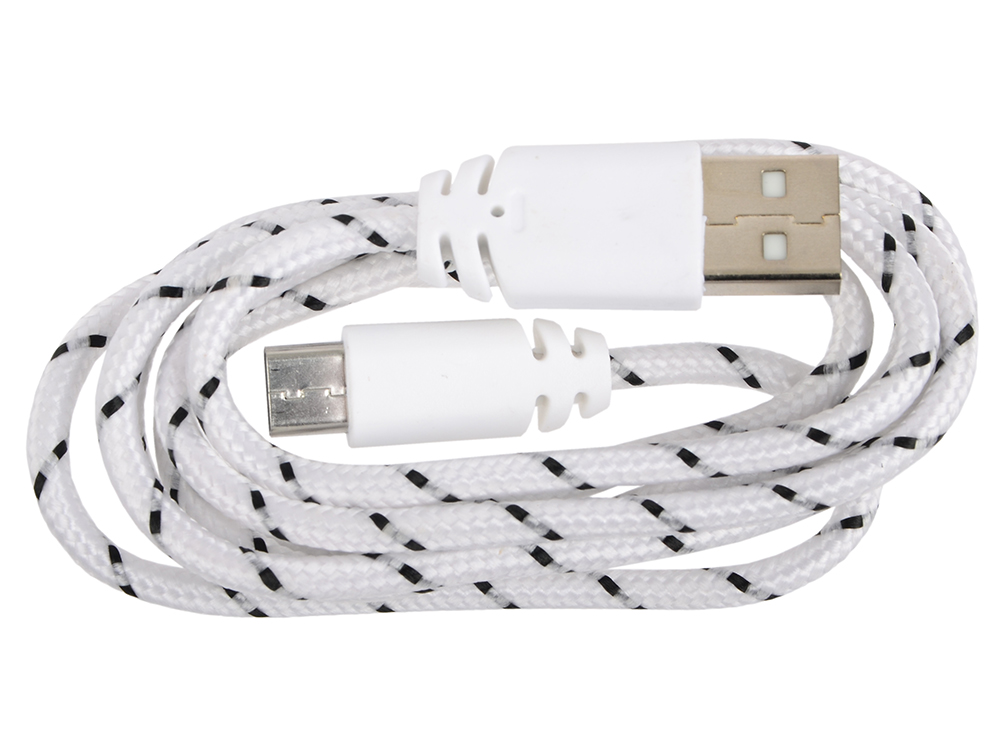 USB кабель LP USB Type-C в оплетке (белый/европакет) 0L-00030573 usb кабель lp micro usb витая пара с металлическими разъемами 1 м белый европакет 0l 00030549