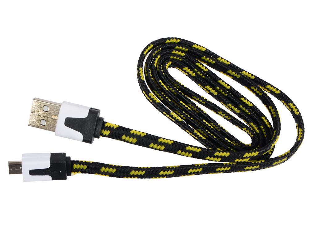 Кабель MicroUSB-USB Ritmix RCC-211 black для синхронизации/зарядки, 1м, ткан. опл. ritmix rcc 312 white кабель usb microusb 1 м
