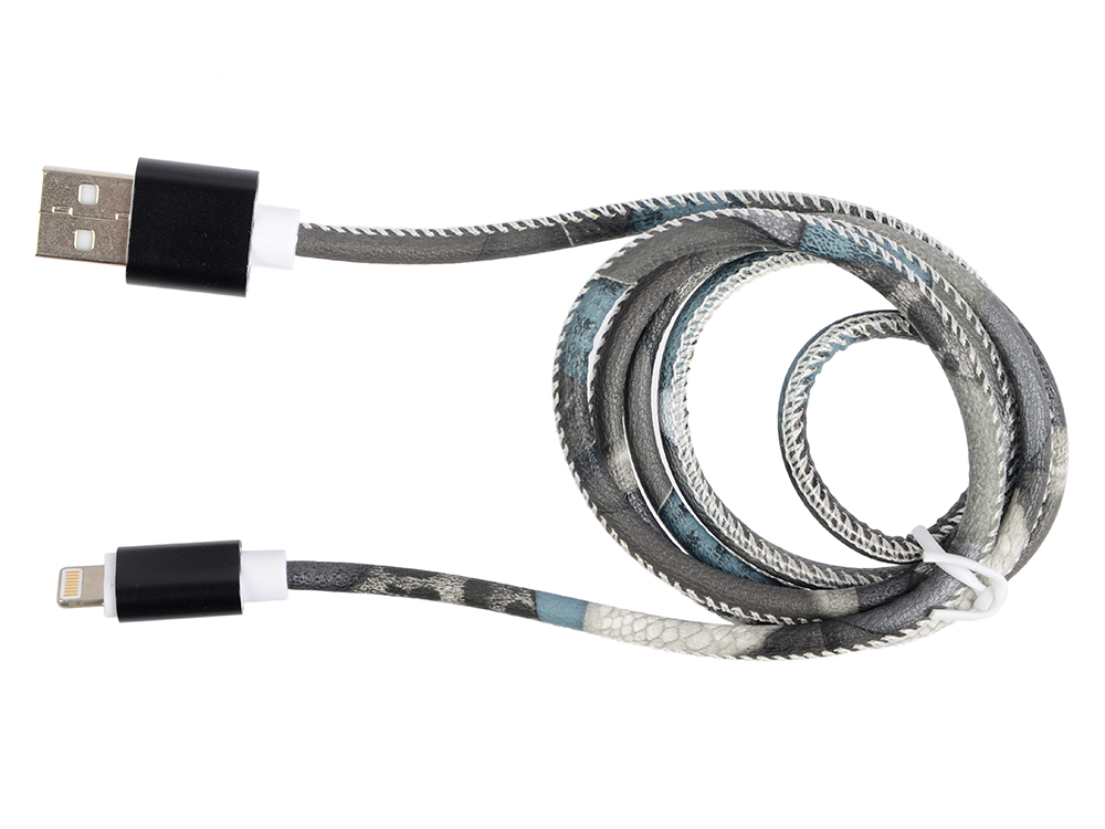 Кабель Lightning 8pin-USB Ritmix RCC-422 brown для синхронизации/зарядки, 1м, нейлон. опл., мет. коннекторы кабель microusb usb ritmix rcc 212 blue для синхронизации зарядки 2м ткан опл