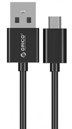 Кабель USB 2.0 AM-microBM 0.5м Orico ADC-05 черный аксессуар кабель orico cpd 7p6g ba60