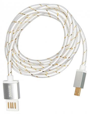 Кабель-переходник WIIIX CB110-UMU-15S USB-MicroUSB серебристый кабели wiiix кабель переходник usb microusb