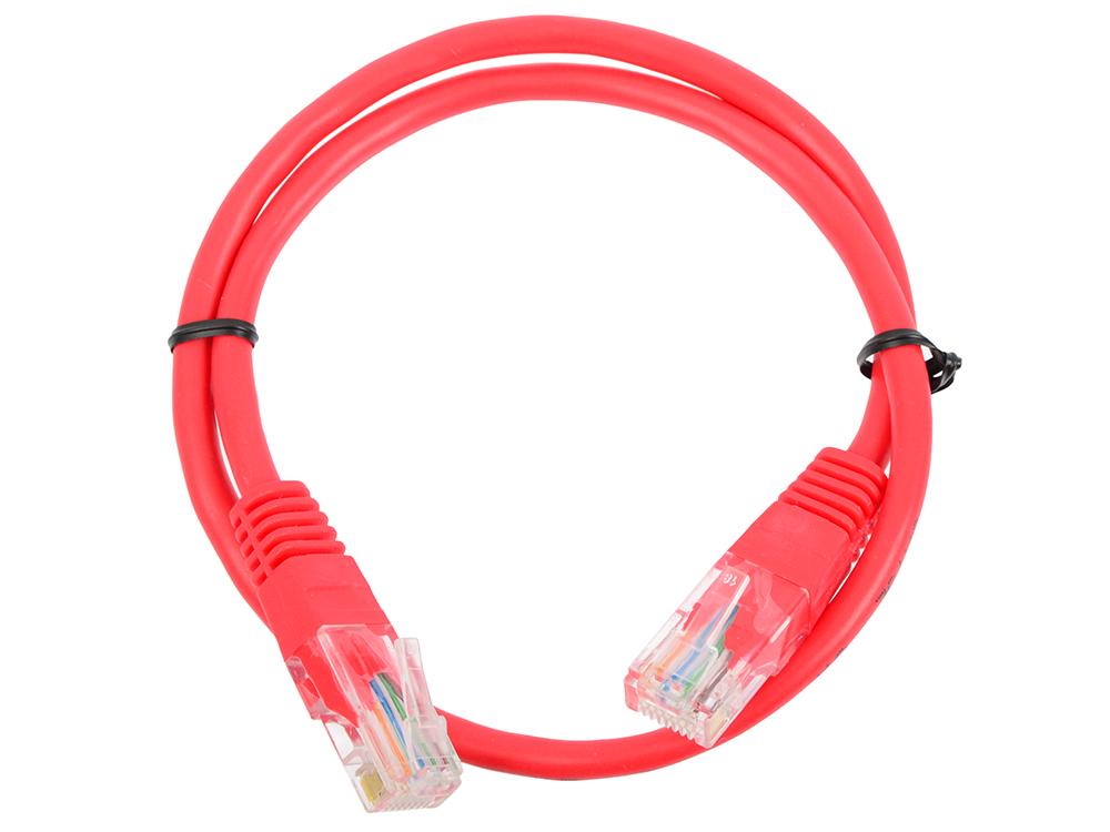 Патч корд литой Telecom UTP кат.5е 0,5м красный