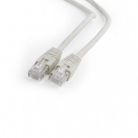 Патч-корд UTP 6 категории 5м серый CCA PVC