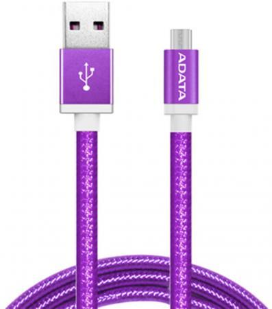 Фото - Кабель USB - micro USB A-Data AMUCAL-100CMK-CPU 1 м пурпурный universal spring style usb to micro usb data