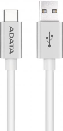 Кабель A-Data Type-C - USB2.0 1м белый ACA2AL-100CM-CSV кабель type c 1м a data круглый aca3al 100cm csv