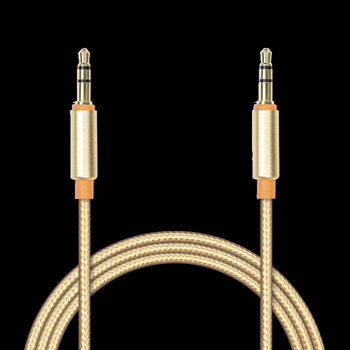 Аудиокабель соединительный Jet.A mini Jack-mini Jack в оплётке JA-AC02 1.5 м золотой (3 pin/3.5мм,металлический разъём,коннекторы с покрытием золотом) yibuy 10pieces chrome end pin output jack socket for acoustic guitar pickup