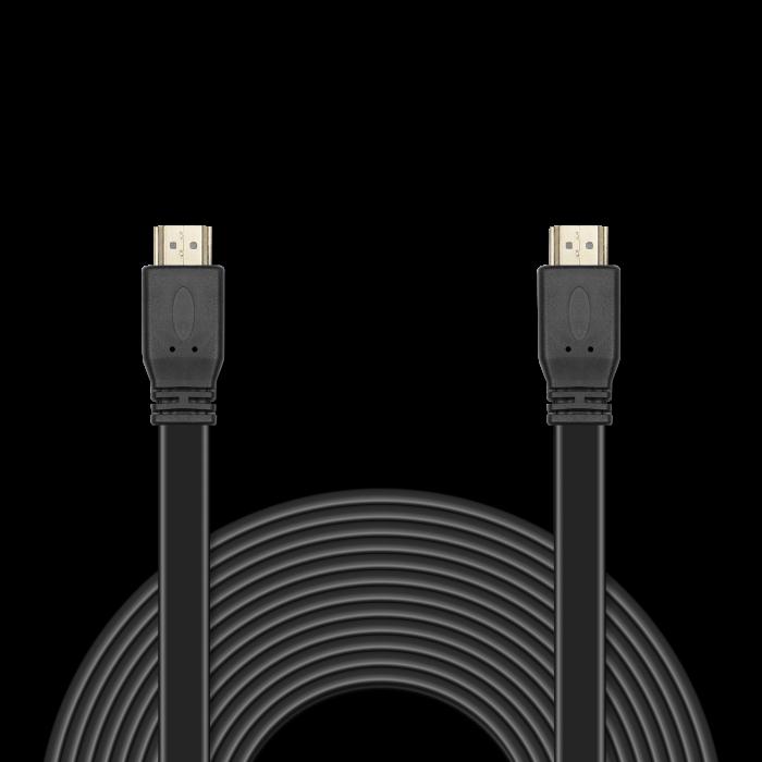 Цифровой кабель HDMI-HDMI c плоским поперечным сечением провода JA-HD10 10 м (версия 2.0 с поддержкой 3D, Ultra HD 4К/Ethernet, 19 pin, 28 AWG, CCS, к yec ccs pcu