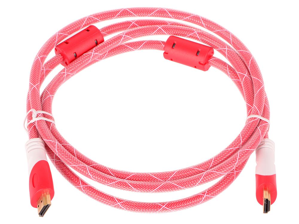 Кабель аудио-видео HDMI (m)/HDMI (m) 1.8м. феррит.кольца Позолоченные контакты красный кабель аудио видео buro hdmi m hdmi m