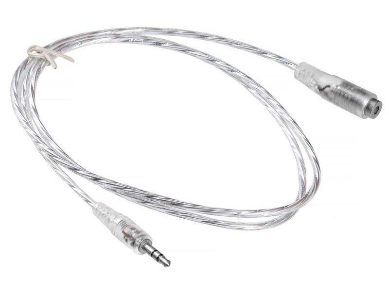 Кабель-удлинитель аудио Buro Jack 3.5 (m)/Jack 3.5 (f) 0.5м. прозрачный (CAB025-0.5M)