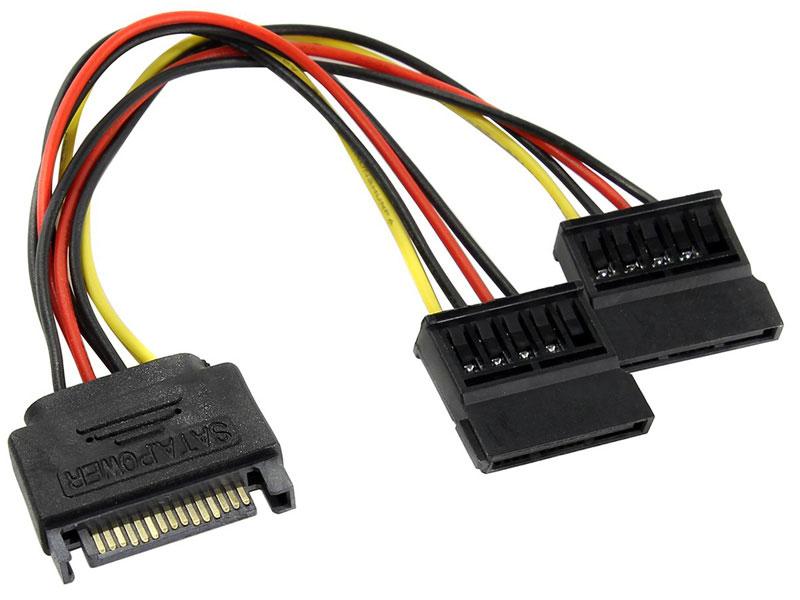 Переходник питания SATA 15pin (M) -) 2 x SATA 15pin (F) ORIENT C573 переходник sata 8 pin