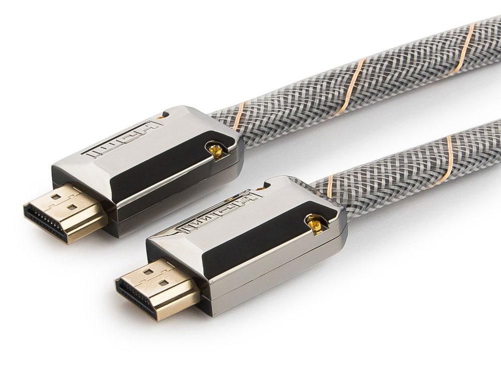 Кабель hdmi cablexpert, серия platinum, 3 м, v2.0, m/m, плоский, позол.разъемы, метал. корпус, нейлоновая оплетка, блистер cc-p-hdmi04-3m