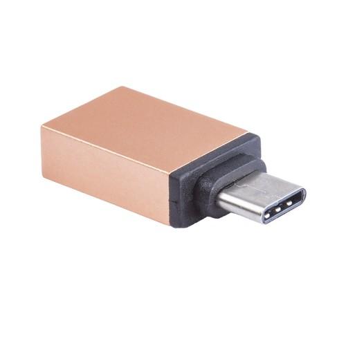 Адаптер Blast Type-C - USB 3.0 c поддержкой OTG BMC-602 золото цены онлайн