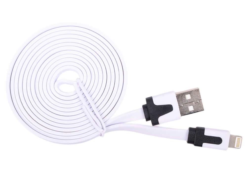Картинка для Кабель USB Blast BMC-213 белый (1.5м, iPhone/iPad/iPod. USB 2.0)