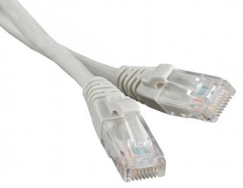 Патч-корд литой TV-COM многожильный UTP кат.5е 1,5м серый <NP511-1.5M>