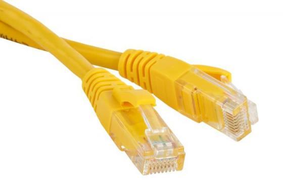 Патч-корд UTP 5е категории 5м Lanmaster TWT-45-45-5.0-YL желтый патч панель lanmaster twt pp24utp 19 1u