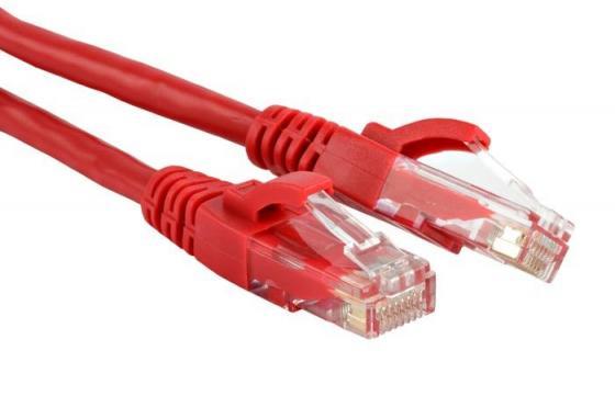 Патч-корд Lanmaster 5E категории UTP красный 0.5м TWT-45-45-0.5-RD патч панель lanmaster twt pp24utp 19 1u 24xrj45 кат 5e utp