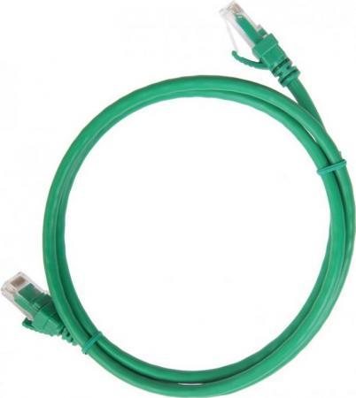 Патч-корд UTP 5е категории 1м ITK PC02-C5EU-1M зеленый розетка itk для rj45 utp кат 5е 1 выход белый cs2 1c5eu 12