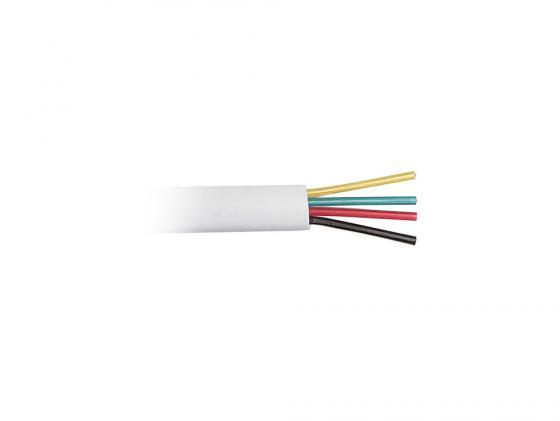 Кабель телефонный Hyperline TC-4-WH 4 провода плоский многожильный 100м белый кабель nymбм j 3х1 5 ту серый 100м мастертока 10338