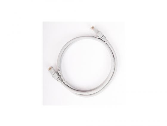 Патч-корд UTP 5е категории 0.5м ITK PC01-C5EU-05M серый розетка itk для rj45 utp кат 5е 1 выход белый cs2 1c5eu 12