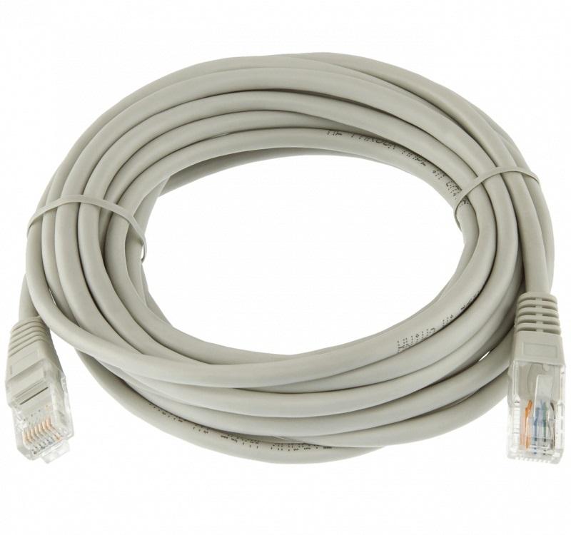 Патч-корд литой TV-COM NP611-3M UTP кат.6, 3м, серый